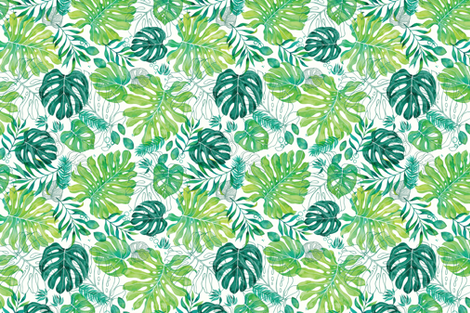Monstera Fronds fabric by emily_raffensperger on Spoonflower - custom fabric