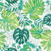Rrrrrrrrmonstera_pattern_blue_fabric_shop_thumb