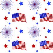 Fireworks and Flag - Big