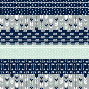 northern lights - chevron & arrows wholecloth