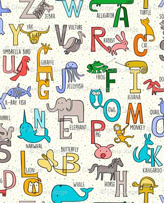 One-liner Alphabet Animals