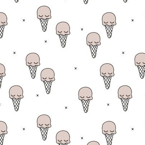 Sweet summer ice cream popsicle sugar pastel gender neutral kawaii illustration