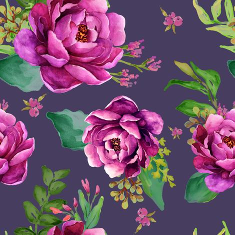 Pink Sunrise - Purple fabric by shopcabin on Spoonflower - custom fabric