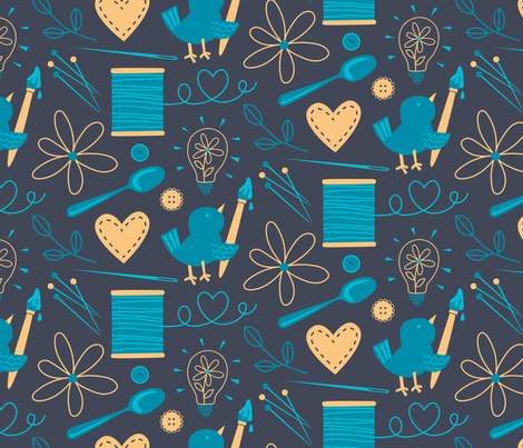 Happiness is Spoonflower fabric by designs_by_lisa_k on Spoonflower - custom fabric