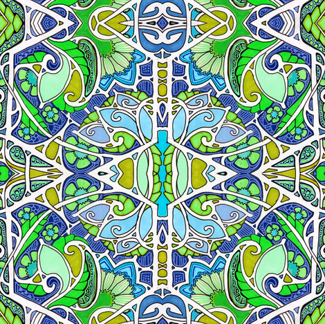 Paisley Sprout Bout fabric by edsel2084 on Spoonflower - custom fabric