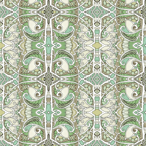 Tastefully Green fabric by edsel2084 on Spoonflower - custom fabric