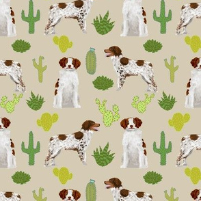 brittany spaniel cute dog fabric cactus dog fabric sporting dogs gun dog fabric