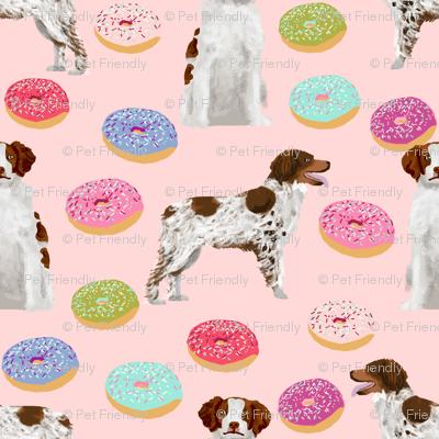 brittany spaniel donuts fabric cute doughnut dog fabric donut design brittany spaniel dogs fabric