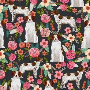 brittany spaniel florals fabric cute painted floral dog fabric dogs sporting dog dog fabrics for quilters