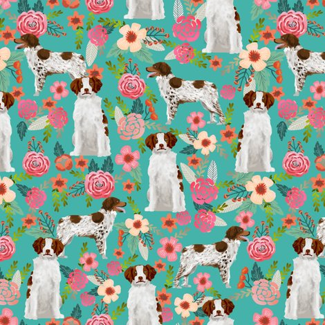 Rrbrittany_spaniel_floral_teal_shop_preview