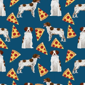 brittany spaniel pizza fabric cute sporting gun dog pizza design best pizza fabric