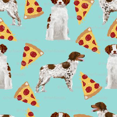 brittany spaniel pizza fabric cute sporting gun dog pizza design best pizza fabric