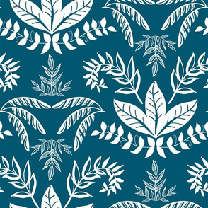 Elegant Botanical Blue