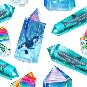 Aura Crystal Sea Creatures
