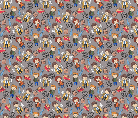 Hello Quirky Supernatural fabric by helloquirky on Spoonflower - custom fabric