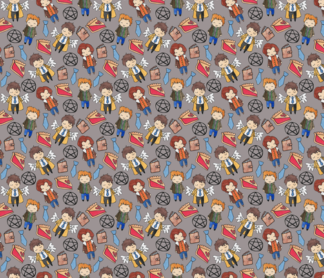 Hello Quirky Supernatural fabric by shawnajereemiller on Spoonflower - custom fabric