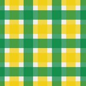 Plaid - Green & Gold 1