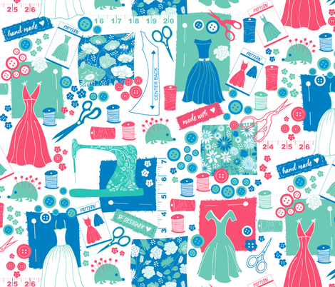Spoonflower Project fabric by jill_o_connor on Spoonflower - custom fabric