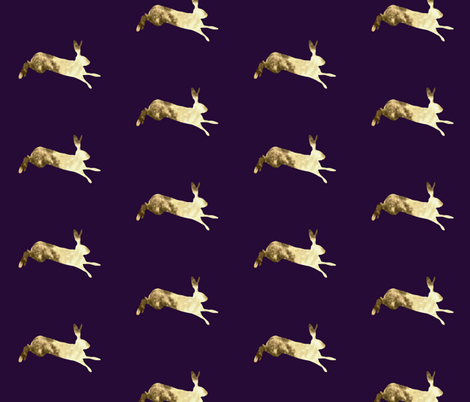 Hare  fabric by redthanet on Spoonflower - custom fabric