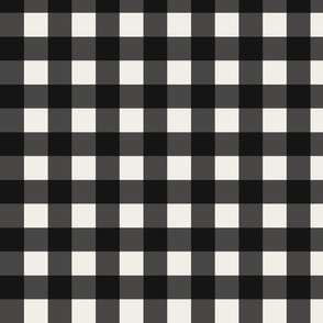 Plaid - Black and Linen