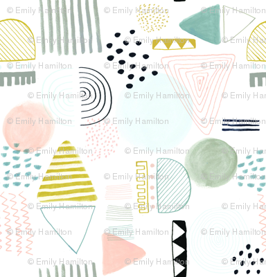 Abstract Pattern - muted pastel colours