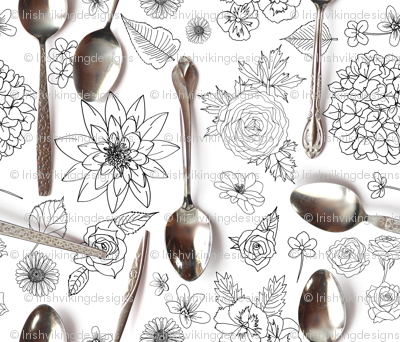 Spoons and Flowers