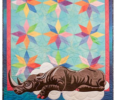 Sleeping Rhino Quilt