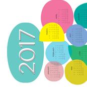 2017 Tea Towel Bubbles Calendar
