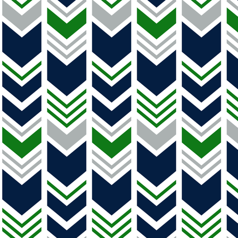 chevron - navy/grey/custom green  fabric by littlearrowdesign on Spoonflower - custom fabric