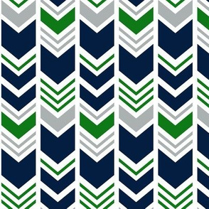 chevron - navy/grey/custom green