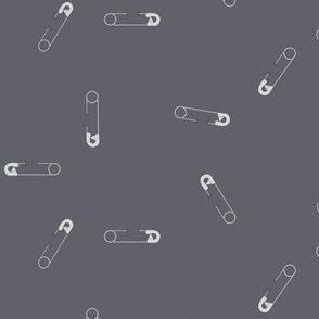 safety pin gray