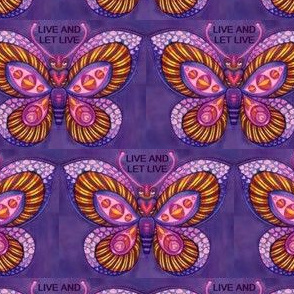 Purple Butterfly Radiant Live and Live