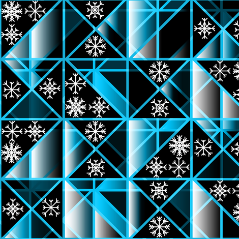 Triangle Snowflake copy3 fabric by deanna_konz on Spoonflower - custom fabric
