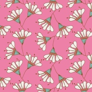Falling Flowers Pink