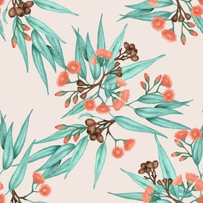 Gumnuts Copper Peach Blossom & Blue Green