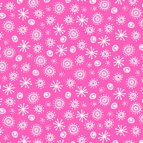 Robot Geometric (Pink) fabric by robyriker on Spoonflower - custom fabric