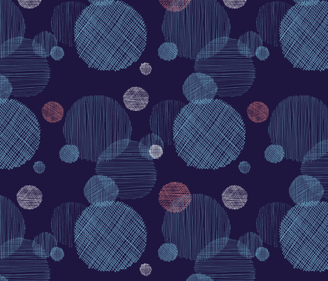 Textured circles fabric by oohoo_designs on Spoonflower - custom fabric