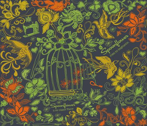 Spoonflower Frees My Imagination fabric by honoluludesign on Spoonflower - custom fabric