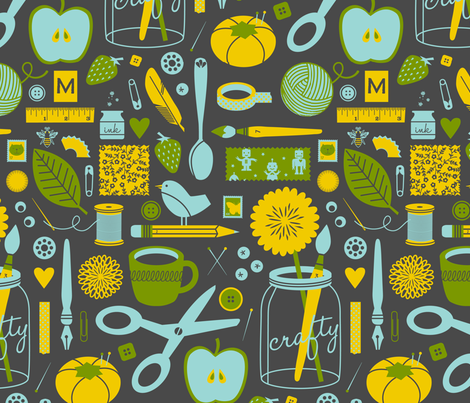 The Craftroom fabric by jenimp on Spoonflower - custom fabric