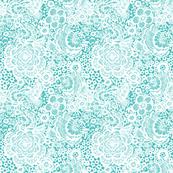 blue Lace Floral birds
