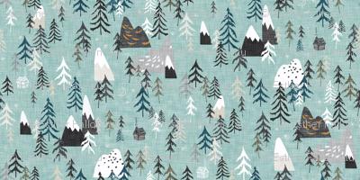 Forest Peaks (sky blue)