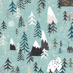 Forest Peaks (sky blue)