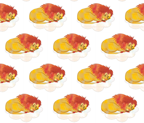 Sleeping Lion  fabric by jvclawrence on Spoonflower - custom fabric