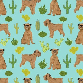 brussels griffon cactus fabric cute desert fabric best dog and cactus tropical palm fabric