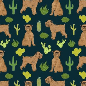 brussels griffon cactus fabric cute dog fabric best dogs print for sewing
