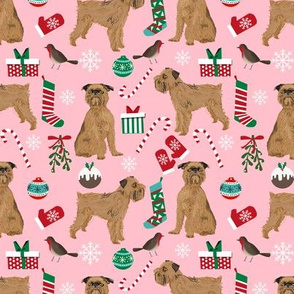 brussels griffon pink christmas dog fabric cute dogs design fabric print print pattern dogs