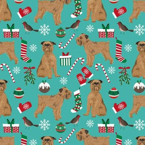 brussels griffon dogs christmas fabric cute dog design xmas holiday pets dog fabric