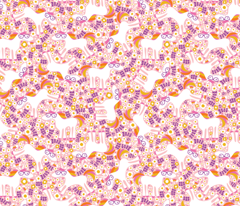 Happy Friends- Unicorn fabric by cynthiafrenette on Spoonflower - custom fabric