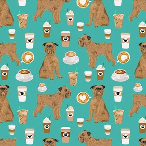 brussels griffon coffees fabric cute dogs and lattes fabric trendy food print cute print pattern dog design