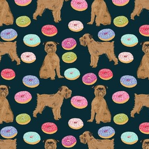 brussels griffon navy blue pet dogs fabric cute dogs design donuts cute food